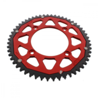 sprocket Dual 54Z Pitch 428 red für Beta RR Enduro 125 ZD3E4000 2013