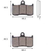 disk brake pads Lucas MCB 737 ABE approved